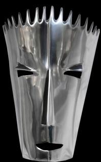 Casa Padrino Designer Wandmaske aus poliertem Aluminium, H 40 cm, B 28 cm - Dekoration Wand Figur - massive Qualität - Vorschau 2