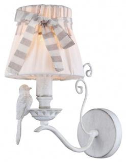Casa Padrino Jugendstil Wandleuchte Antik Weiß 15 x 26 x H. 30 cm - Wandlampe im Jugendstil