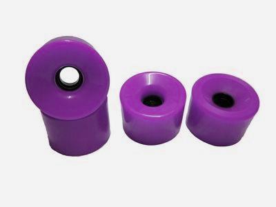 Koston Blank Longboard Wheels 76mm / 78a Purple - Longboard Cruiser Wheel Set (4 Rollen)