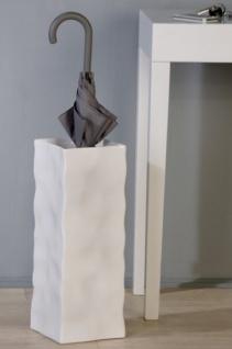 Designer Schirmständer Weiss - edle Skulptur aus Keramik - Edel & Prunkvoll Schirm Ständer Halter Vase
