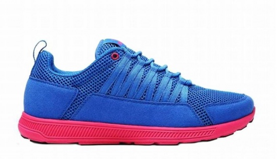 SUPRA Skateboard Schuhe Owen Fast Royal Blue Mes / Pink - Running Shoes