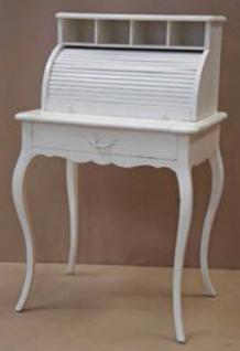 Casa Padrino Shabby Chic Sekretär Landhaus Stil Look Weiß - Barock Rokoko Stil