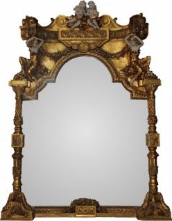Casa Padrino Barock Luxus Spiegel Engel Gold B 114 cm, H 153 cm - Edel & Prunkvoll - Made in Italy
