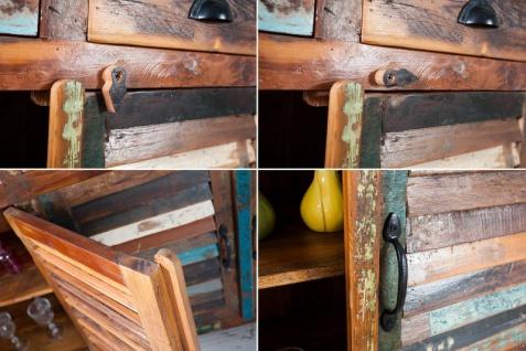 Casa Padrino Designer Sideboard Mehrfarbig B.180 x H.100 x T.45 - Fernsehschrank - Kommode - Handgefertigt - Massivholz - Vorschau 2