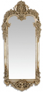 Casa Padrino Barock Spiegel Antik Silber 31, 3 x H. 70, 1 cm - Wandspiegel im Barockstil - Vorschau