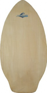 Surf Quest Oldschool Skimboard 108 cm mit Kicktail Raw Wood - Profi Skimboard