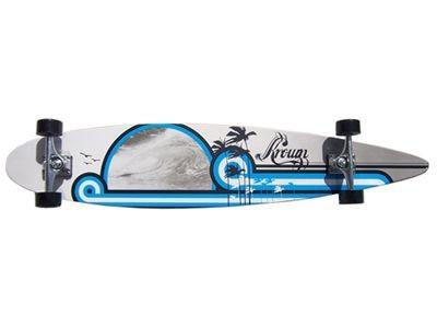 Krown - Longboard Komplettboard Skateboard DS Wave City Surf Longboard Complete