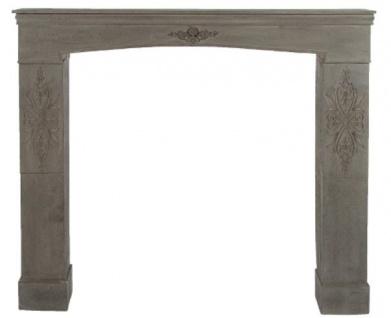 Casa Padrino Landhausstil Kaminumrandung Antik Graubraun 113 x 19 x H. 101 cm - Handgefertigte Shabby Chic Möbel