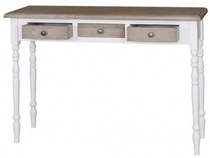 Casa Padrino Landhausstil Konsole Weiß / Naturfarben 120 x 35 x H. 79 cm - Luxus Qualität - Vorschau 2