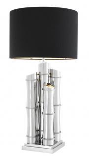 Casa Padrino Luxus Edelstahl Tischleuchte Silber 23 x 45 x H. 91, 5 cm - Luxus Kollektion