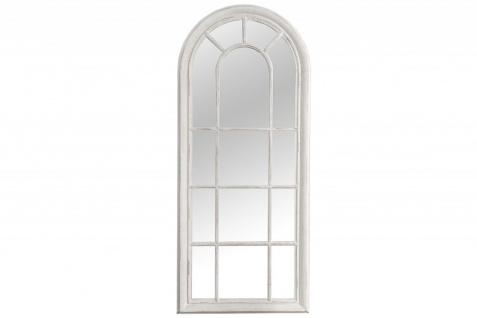 Casa Padrino Designer Wandspiegel Grau/Weiss 60 x H. 140 cm - Vintage Spiegel