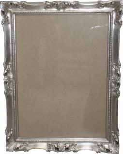 Casa Padrino Barock Holz Bilderrahmen 85 x 64 cm Silber - Großer Bilder Rahmen Foto Rahmen Jugendstil Antik Stil - Made in Italy