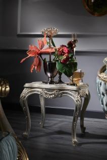 Casa Padrino Luxus Barock Beistelltisch Silber / Gold 61 x 61 x H. 58 cm - Barock Wohnzimmermöbel
