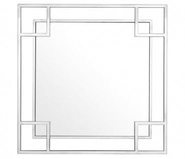 Casa Padrino Designer Wandspiegel Silber 90 x H. 90 cm - Luxus Spiegel