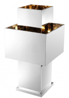 Casa Padrino Luxus Tischleuchte Silber 36, 5 x 36, 5 x H. 72 cm - Designer Tischlampe - Vorschau 2