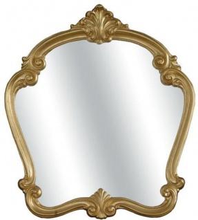 Casa Padrino Luxus Barock Spiegel Gold 92 x 5 x H. 106 cm - Wunderschöner Massivholz Wandspiegel im Barockstil