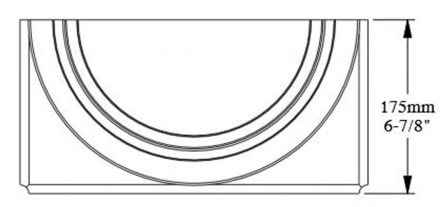 Casa Padrino Barock Zierelement Säulenfuß Sockel Weiß 35 x 17, 5 x H. 57, 5 cm - Prunkvolle Wanddeko - Barock Deko - Vorschau 4