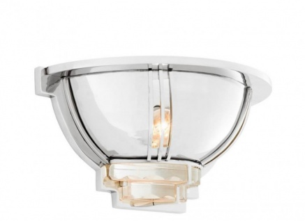 Casa Padrino Luxus Wandleuchte Nickel - Luxus Qualität