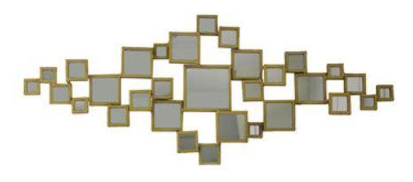 Casa Padrino Luxus Spiegel / Wandspiegel Gold 124 x H. 52 cm - Designermöbel