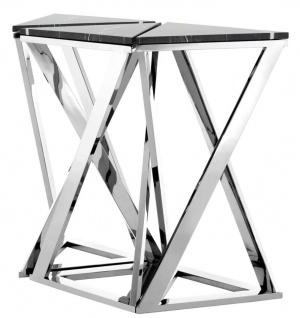 Casa Padrino Designer Konsole 3er Set Silber 95 x 41 x H. 80, 5 cm - Luxus Kollektion