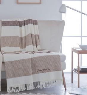 Pierre Cardin Designer Luxus Decke Samtweich 140 x 180 cm Schlafzimmer Wohnzimmer Tagesdecke Kuscheldecke Camel PA901