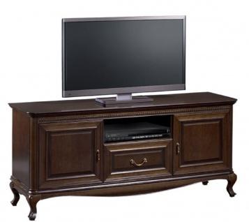 Casa Padrino Luxus Jugendstil Sideboard Dunkelbraun 152 x 45, 6 x H. 68, 2 cm - Fernsehschrank mit 2 Türen und Schublade - Wohnzimmermöbel