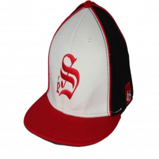 ES Footwear Skateboard A-Flex Fitted Cap Smooth Red/White/Black - Cappie Kappie