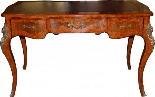 Casa Padrino Luxus Barock Empire Schreibtisch Sekretär 130 cm - Handgefertigt aus Eichenholz - Barock Schreibtisch Büro Möbel