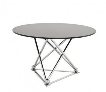 Casa Padrino Designer Luxus Esstisch mit schwarzem Glas 130 x H. 75 cm - Esszimmer Tisch