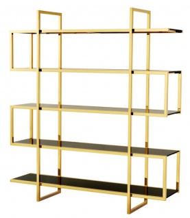 Casa Padrino Luxus Regalschrank Gold 160 x 42 x H. 180 cm - Designer Hotel Möbel