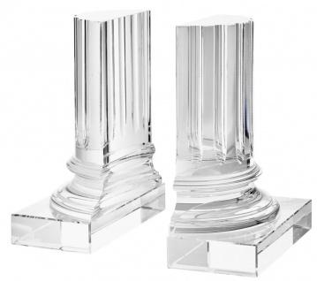 Casa Padrino Kristallglas Buchstützen 2er Set 17 x 8, 5 x H. 21 cm - Designer Hotel Deko - Vorschau 1