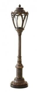 Casa Padrino Luxus Tischleuchte Antik Messing Durchmesser 19 x H 85 cm - Luxus Hotel Restaurant Leuchte