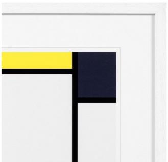 Casa Padrino Designer Deko Bilder 2er Set Mehrfarbig / Weiß 75 x H. 75 cm - Luxus Kunstdrucke - Vorschau 5