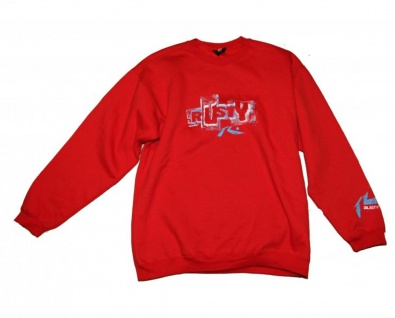 Rusty Skateboard Mis Hap Pullover Red Sweater