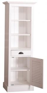 Casa Padrino Landhausstil Badezimmerschrank mit Tür und Schublade Weiß 54 x 41 x H. 160 cm - Badezimmermöbel im Landhausstil - Vorschau 4