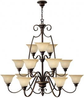 Casa Padrino Barock Kronleuchter Antik Bronze / Vintage Alabaster Ø 119, 4 x H. 109, 2 cm - Prunkvoller Kronleuchter mit eleganten Kunstglas Lampenschirmen - Barock Möbel
