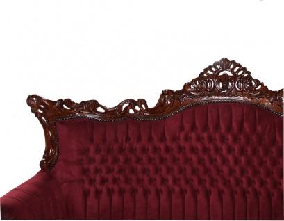 Casa Padrino Barock 3-er Sofa Master in Bordeaux / Braun - Wohnzimmer Möbel Couch Lounge - Limited Edition - Vorschau 2