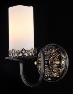 Casa Padrino Barock Wandleuchte Kaffee Gold 12 x H 23 cm Antik Stil - Wandlampe Wand Beleuchtung