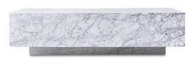 Casa Padrino Luxus Couchtisch Weiß 135 x 80 x H. 35 cm - Rechteckiger Wohnzimmertisch aus Carrara Marmor - Marmortisch - Luxus Qualität - Vorschau 2