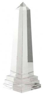 Casa Padrino Luxus Kristallglas Obelisk 11 x 11 x H. 35 cm - Designer Wohnzimmer Hotel Dekoration