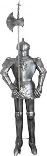Casa Padrino Deko Ritterrüstung Antik Silber H. 210 cm - Mittelalter Deko Ritter Rüstung