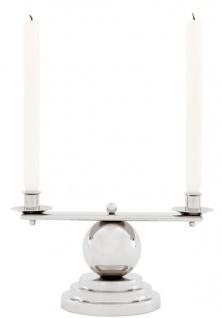 Casa Padrino Luxus Kerzenhalter Silber 34 x H. 16, 5 cm - Designer Accessoires