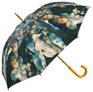 """Designer Regenschirm Motivschirm Pierre-Auguste Renoir: """" Le Moulin de la Galette"""" - Eleganter Stockschirm - Luxus Design - Automatikschirm"""