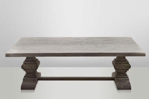Casa Padrino Landhaus Couchtisch Eiche Rustic Grey 140 x 80 cm- Barock Stil Salon Wohnzimmer Tisch Eiche Massiv - Vorschau 4