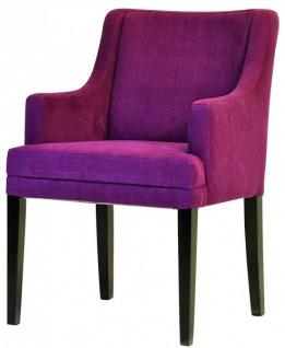 Casa Padrino Designer Esszimmer Stuhl ModEF 285 Burgundy / Schwarz - Hoteleinrichtung - Vorschau 3