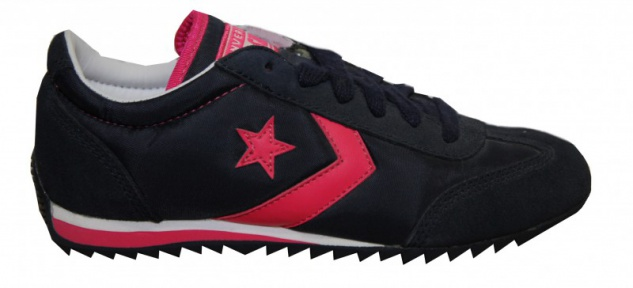 Converse Skateboard Schuhe Nylon Trainer Navy/Pink Sneakers Shoes