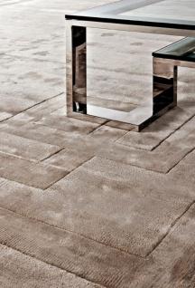 Casa Padrino Luxus Viskose Wohnzimmerteppich Naturfarben - Verschiedene Größen - Luxus Qualität