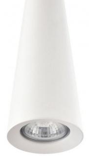 Casa Padrino Luxus Hängeleuchte Weiß / Silber Ø 10 x H. 158 cm - Runde Metall Pendelleuchte - Vorschau 3