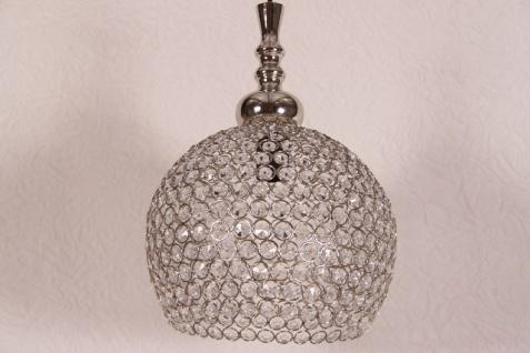 Casa Padrino Hängeleuchte Deckenleuchte Silber / Glas 28cm Durchmesser - Industrie Lampe Hänge Leuchte