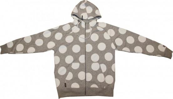 Record Skateboard Devenport Jacket Hooded Grey/White Sweater